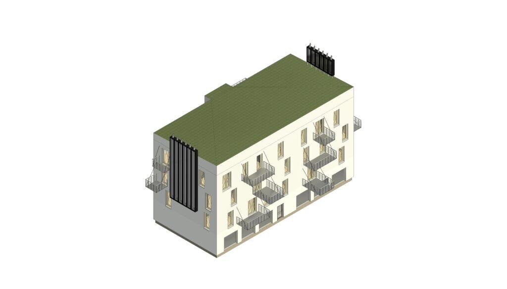 Modelová budova - Varianta A: Základní resilientní varianta