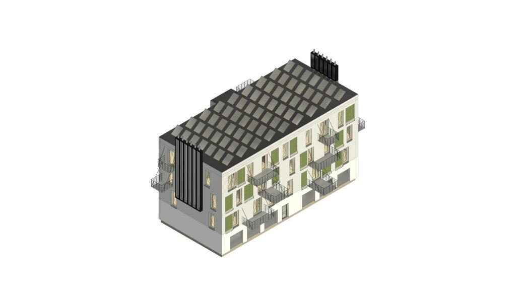Modelová budova - Varianta B: Komfortní resilientní varianta